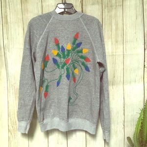 Vintage Christmas Light Medium Pullover Sweater
